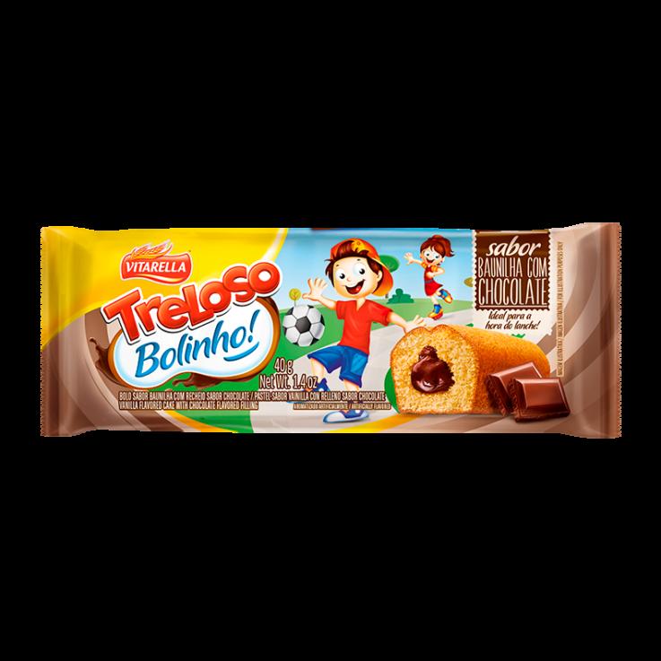 Bolinho Baunilha com recheio de Chocolate