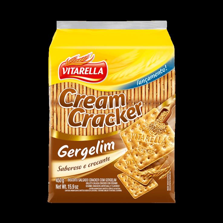 Cream Cracker Gergelim